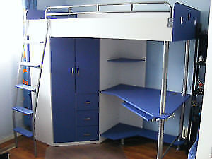 JYSK Laiva blue loft bed