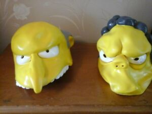 3 adult Simpsons Halloween Masks adult