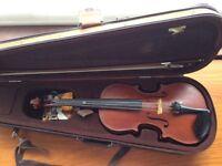 Violin made in Trafford, Manchester in 1988