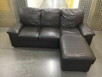 Leather L shape sofa •free delivery