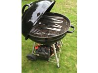 Used UniFlame charcoal BBQ with Terence Conran BBQ tools
