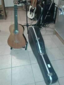 Nylon string Spanish guitar and case