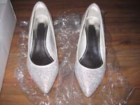 SILVER CRYSTAL SHOES