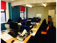Double room can be used as a call centre or any type of business. Can fit 8-10 people.