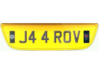J4 4 ROV Personalised Registration number plate (AGELESS)
