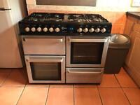 Range cooker dual fuel gas hob electric ovens