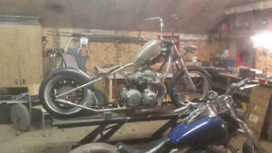 1986 honda 750 hardtail project