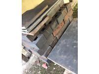 Slate slabs and bricks