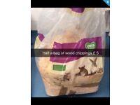 Half a bag woodchippings