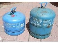 £10 EACH - EMPTY Campingaz 907 or 904 gas bottle/cylinder with cap/handle - camping,fishing,camper