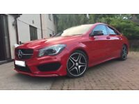 Mercedes cla 220 amg line sport automatic auto panoramic roof red c class c220 c250 sport 320