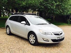 VAUXHALL ASTRA 'EXCLUSIVE' (2012 MODEL) '1.7 CDTI - ECOFLEX - 6 SPEED' *AIR CON* (1 OWNER)