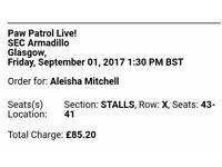 Paw patrol live tickets