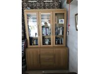 Sideboard and glass display cabinet