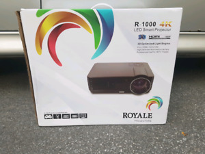 Royale R1000 3D 4K LED Smart Projector