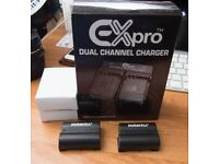 Dual EN-EL-15 Charger (New) with 2x Duracell Batteries