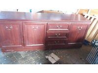 free side bord and display cabinet