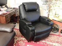 Cinemo 9 in 1 leather reclining massage chair