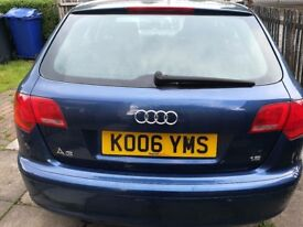 Blue Audi A3 Special Edition 1.6 Petrol LOW MILEAGE