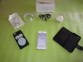 Apple iPhone 5 - 16GB - White & Silver (EE) Smartphone Fantastic Condition + EXTRAS £100 ONO