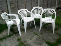 ❌ 4 ❌ White garden chairs ❌IN GREAT CONDITION ❌