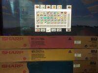 Sharp A3 colour printer toner. Three colours included