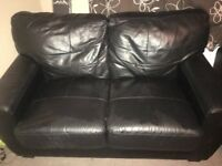 2 seater black sofa