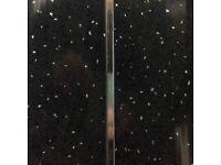Black Sparkle With Chrome 6mm