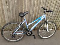 mountain bike light blue 21 gears