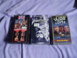 vhs wwe/wwf undertaker the phenom/le vrais visage/one night only