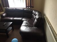 Dfs leather corner sofa, delivery available