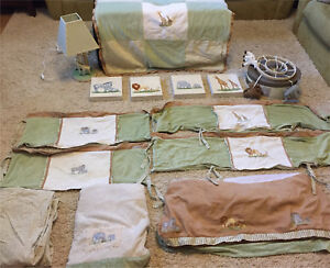 "Complete ""Petite Safari"" Nursery set"