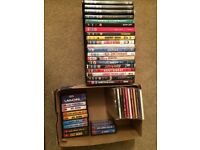 Job lot of dvds, cds and cassettes for car boot sales