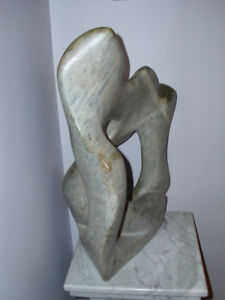 SOAP STONE SCULPTURE with granit STAND