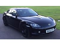Mazda RX-8 RX8 1.3 4dr 231bhp Stunning Car in Black with Mega Low Mileage & MOT'd Until August 2018!