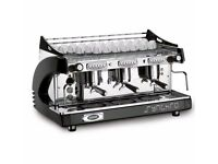 3 Group Synchro Espresso Coffee Machine With Macap MXD Coffee Grinder