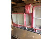 Howdens Gloss white kitchen ( 13 UNITS IN TOTAL )