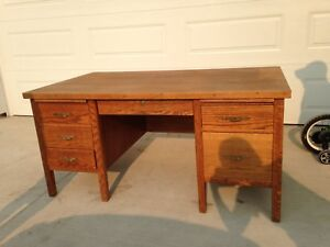 Beautiful solid oak desk and chair