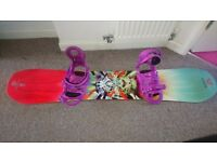 Womans snowboard, boots and bindings for sale, excellect condition!