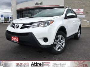 2014 Toyota RAV4 AWD LE. Keyless Entry, Roof Rails, Backup Camer