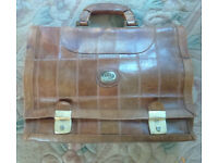 Vintage Italian leather document case