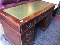 Leather topped top quality desk