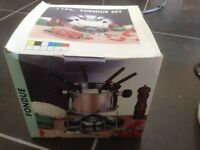 Silver Fondue Set - never used