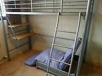High sleeper with single futon and desk