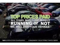 WANTED Scrap Car's , 4x4's & Van's £Cash Payment£