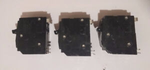 3 x 20 Amp Dual Pole Square D Breakers