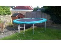trampoline for sale edging worn but.otherwise ok