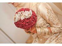 Embellished bridal bouquet