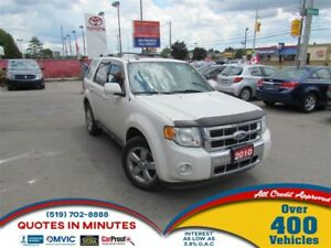 2010 Ford Escape LIMITED | 4X4 | LEATHER | SUNROOF | SAT RADIO
