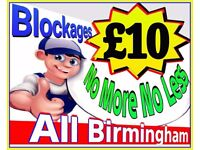 """""""£10""""NoMore-NoLess """"NO SILLY 70% DISCOUNT NONSENSE""""(We Charge £10 Blocked Toilets & Drains) Plumbing"""